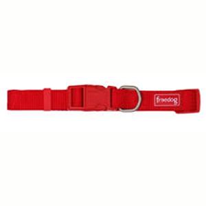 Collar Nylon Basic Rojo 10 mm
