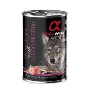 Alpha Spirit llauna esturió amb maduixa 400 gr